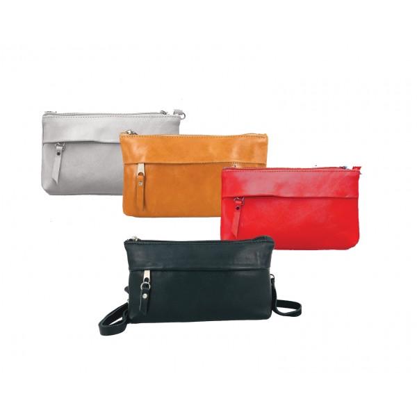 δερμάτινη γυναικεία τσάντα χιαστί