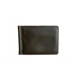 δερμάτινο πορτοφόλι με έλασμα